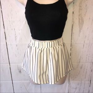 Shein Black & white striped shorts